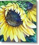 Swingin' Sunflowers Metal Print