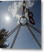 Swinging In A Hammock Metal Print