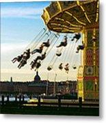 Swings At Sunset Metal Print
