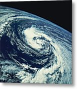 Swirl Of Clouds Over The Earth Metal Print