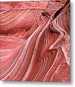 Swirling Sandstone Metal Print