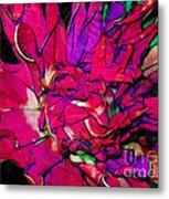 Swirly Fabric Flower Metal Print