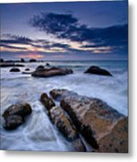 Swirly Wave At Sunrise In Co Thach Beach Metal Print