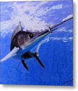 sword Fish Metal Print by David Hawkes