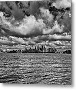 Sydney-black And White Metal Print