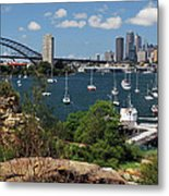 Sydney From Blues Point Metal Print
