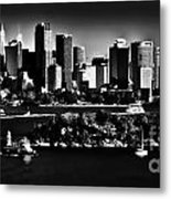 Sydney Harbour Monochrome Metal Print