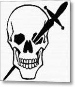 Symbol: Skull & Dagger Metal Print