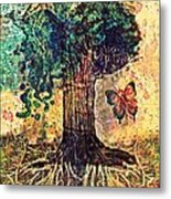 Symbolically Solid Tree Metal Print by Paulo Zerbato