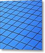 Symmetrical Pattern Of Blue Squares Metal Print