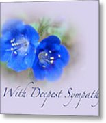 Sympathy Card - Blue Wildflower Metal Print