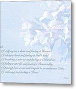 Sympathy Greeting Card - Hairy Bittercress Wildflower Metal Print