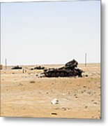 T-55 Tanks Destroyed By Nato Forces Metal Print