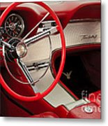 T-bird Interior Metal Print by Dennis Hedberg