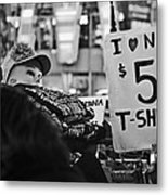 T-shirts In Times Square Metal Print