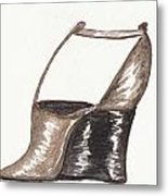 T-strap Wedge Metal Print