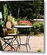 Table For Two Metal Print by Stephanie Frey