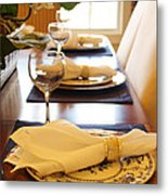 Table Set For Dinner Metal Print by Jeremy Allen