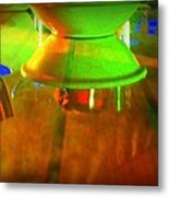 Table Topsy Turvy Metal Print by Randall Weidner
