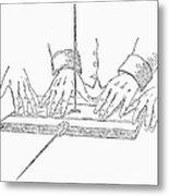 Table-turning Device, 1853 Metal Print