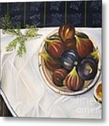 Table With Figs Metal Print by Carol Sweetwood
