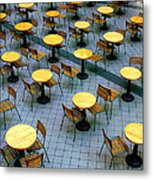 Tables And Chairs II Metal Print