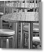 Tables And Stools Metal Print