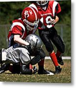 Tackle The Runner Metal Print