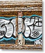 Tagged Window Metal Print