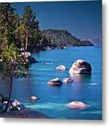 Tahoe On The Rocks Metal Print