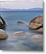 Tahoe Rocks Metal Print