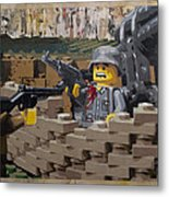 Taking The Bunker Metal Print