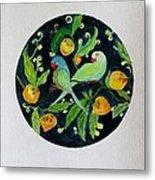 Talkative Parakeets Metal Print