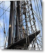 Tall Ship Mast Metal Print