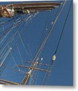 Tall Ship Rigging 1 Metal Print