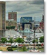 Tall Ships At Baltimore Inner Harbor Metal Print