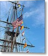 Tall Ships Banners Metal Print by David Bearden
