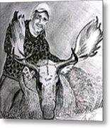 Tamed Moose Metal Print by Carolyn Ardolino