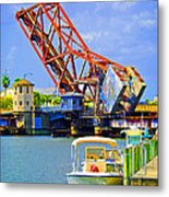 Tampa Drawbridge Metal Print