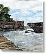 Tanah Lot Temple II Bali Indonesia Metal Print