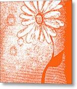 Tangerine Daisy By Shawna Erback Metal Print