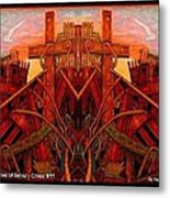 Tangles Of Terror Cross Nine Eleven  Metal Print