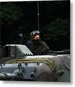 Tank Commander Of A Leopard 1a5 Mbt Metal Print