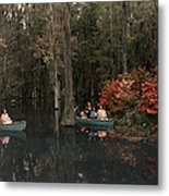 Tannic Acid From Old Trees Stains Water Metal Print