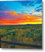 Taos Sunset Ix Metal Print