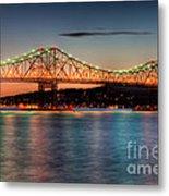 Tappan Zee Bridge Twilight I Metal Print