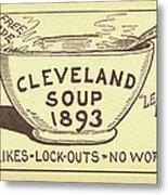 Tariff League Postcard, 1906 Metal Print