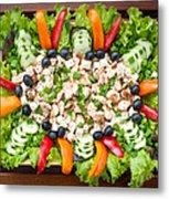 Tasty Chicken Salad Metal Print
