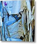 Tattered Paper On A Bulletin Board No.1045 Metal Print