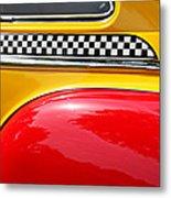 Taxi 1946 Desoto Detail Metal Print